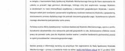 Zaproszenie Instytut INTL do Rady Społecznej Wydziału Mechanicznego Politechniki Wrocławskiej