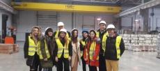 Wizyta studyjna studentów Międzynarodowej Wyższej Szkoły Logistyki i Transportu we Wrocławiu w Ritex Logistics